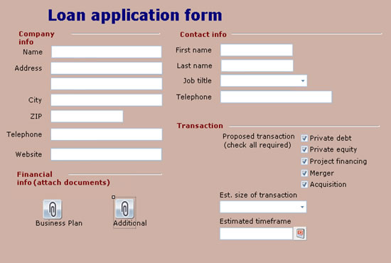Deploy Solution  Loan Form Sample